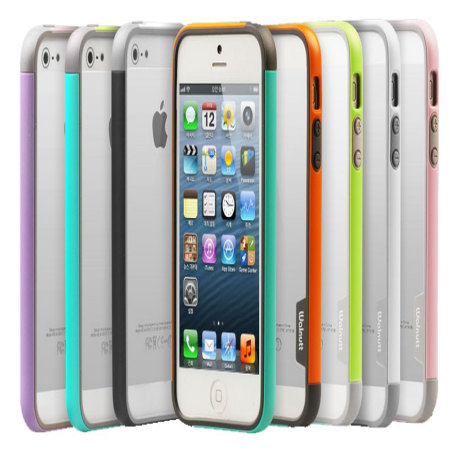 buy online 0afc0 3c91f Zenus Bumper Trio Series Case for iPhone 5S / 5 - Grey
