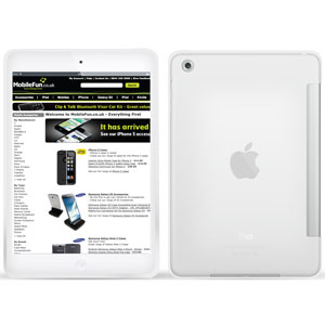 Smart Cover FlexiShield iPad Mini - Blanc givré