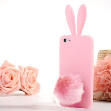 coque iphone 5 lapin pompon