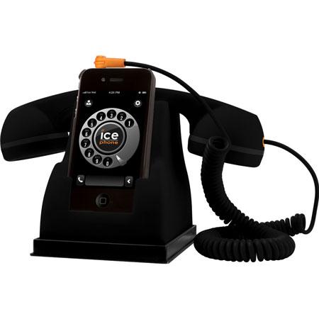 Ice-Phone Retro Handset- Black