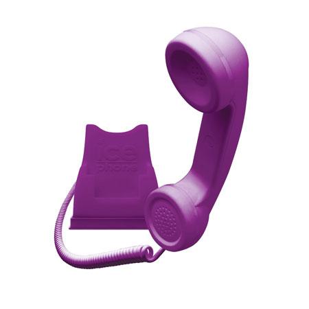Kit main libre Ice-Phone Retro - Violet