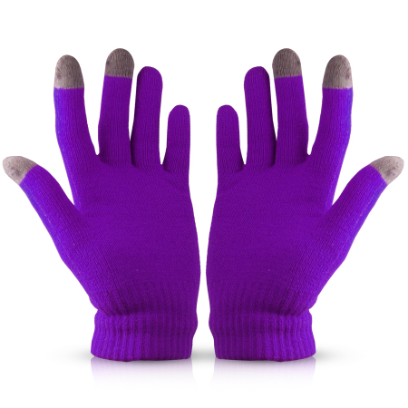 6f33d7ba538c9 Touch Tip Gloves For Capacitive Touch Screens - Purple