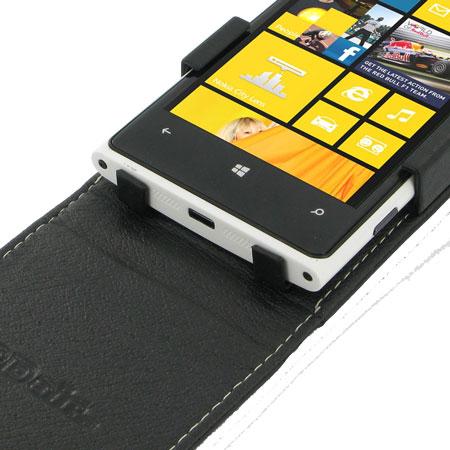 100% authentic 11165 de4fd PDair Leather Flip Case for Nokia Lumia 920 - Black