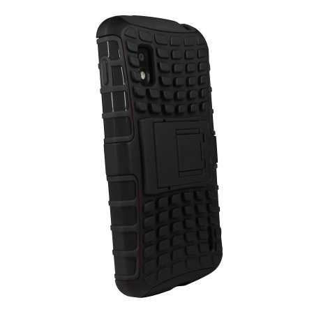 ArmourDillo Hybrid Protective Case for Google Nexus 4 - Black