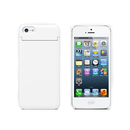 Vanity Light Up Iphone Case : Mirror Card Case for iPhone 5 - White