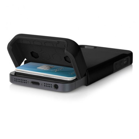 new product 964ae 1ab5d Incipio Stashback Credit Card Case for iPhone 5S / 5 - Black
