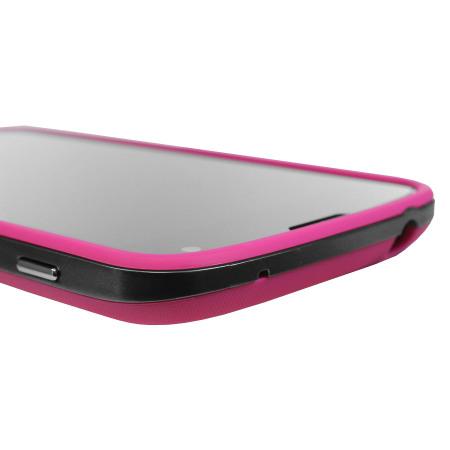 GENx Hybrid Bumper Case for Google Nexus 4 - Pink