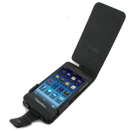 online retailer 8b6d0 aa484 PDair Leather Flip Case for Blackberry Z10 - Black