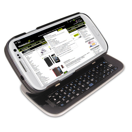 sale retailer 414f0 091f3 Wireless Sliding Keyboard and Case for Samsung Galaxy S3 - Black