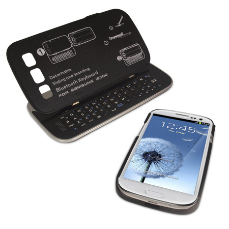 sale retailer 77522 0d010 Wireless Sliding Keyboard and Case for Samsung Galaxy S3 - Black