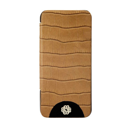 Mischa Barton Luxury Croc Leather Case for iPhone 5S / 5 - Brown