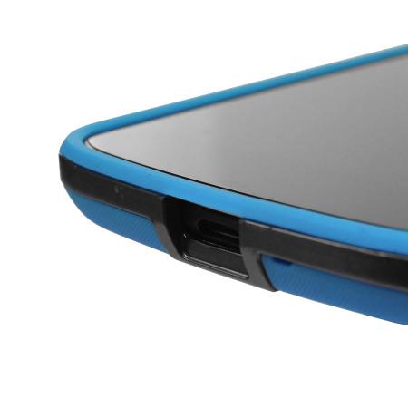 genx hybrid bumper case for google nexus 4 blue