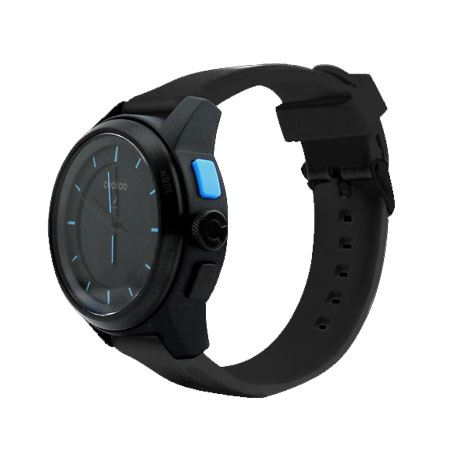 Negro Azul Para Analógico Cookoo Smartphones Reloj Nwvm08n