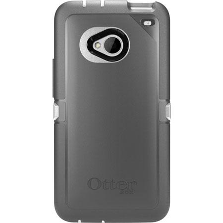 Otterbox Defender Series for HTC One M7 - White/Silver