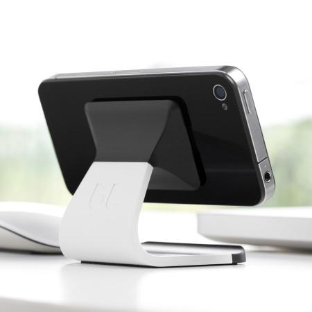 milo universal desktop phone stand white. Black Bedroom Furniture Sets. Home Design Ideas