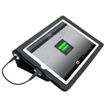 chargeur de batterie veho pebble 6600 mah et housse portefeuille ipad et ipad 2 noire. Black Bedroom Furniture Sets. Home Design Ideas