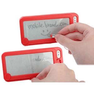 Funda iPhone 5S / 5 con pizarra trasera - Roja