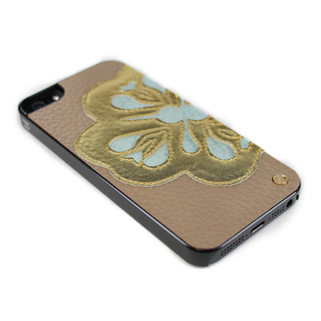 Mischa Barton Flower Case for iPhone 5S / 5 - Gold