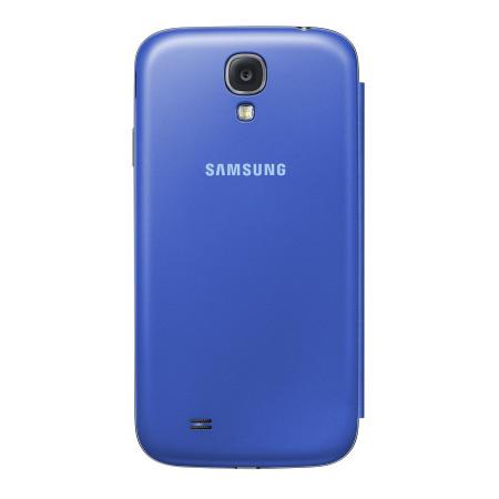 Genuine Samsung Galaxy S4 Flip Case Cover - Light Blue
