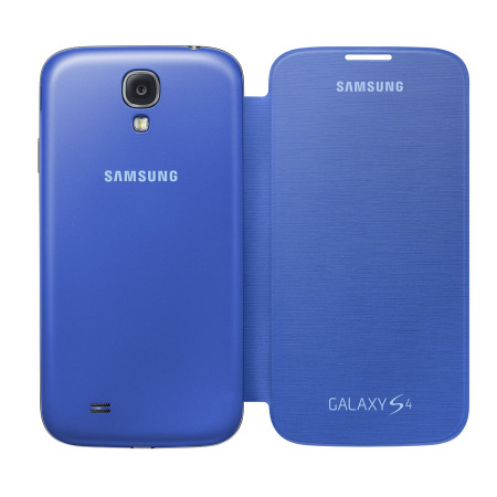 the best attitude dc9be 098d6 Genuine Samsung Galaxy S4 Flip Case Cover - Light Blue