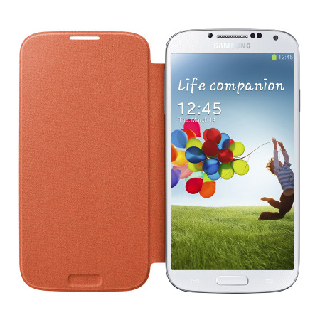 Official Samsung Galaxy S4 Flip Case Cover - Orange