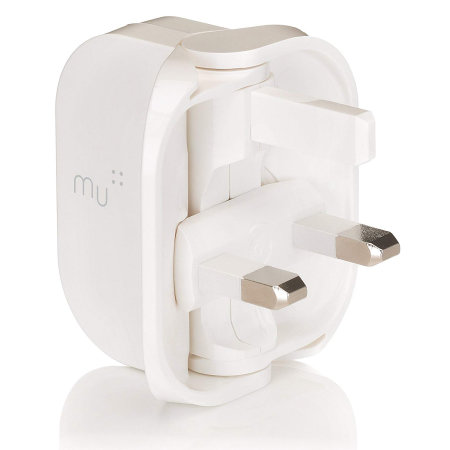 MU Classic Foldable USB Mains Charger - White