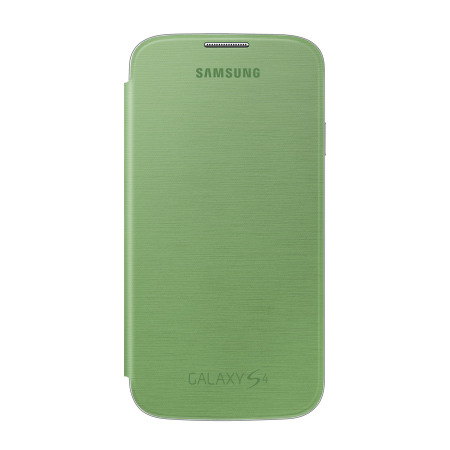 Official Samsung Galaxy S4 Flip Case Cover - Lime Green