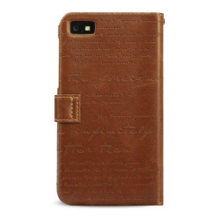 zenus masstige blackberry z10 lettering diary case brown