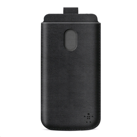 Belkin F8M573 Leather Style Pouch for HTC One M7 - Black