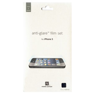 Power Support Anti-Glare Film set for iPhone 5S / 5 (front & back)