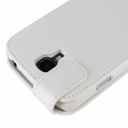Leather Style Flip Case for Samsung Galaxy S4 - White