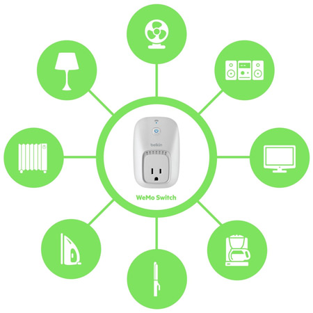 Belkin WeMo Home Automation Switch for Apple iOS and Android Devices