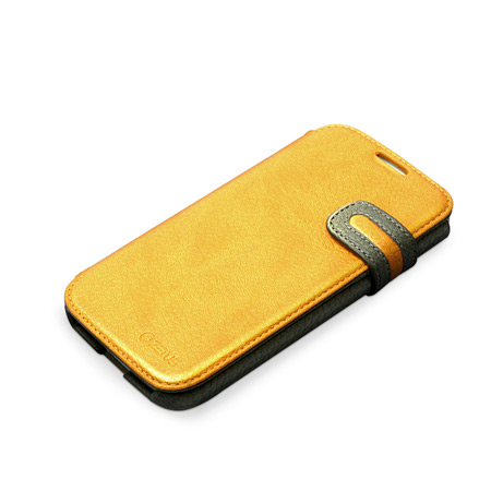 Zenus Masstige Modern Edge Diary Case for Samsung Galaxy S4 - Yellow