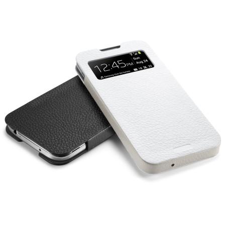 Spigen SGP Crumena Leather View Pouch for Samsung Galaxy S4 - White