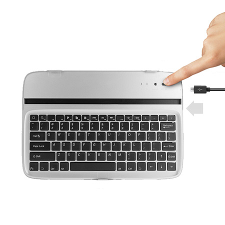 Metal Bluetooth Keyboard for Google Nexus 10