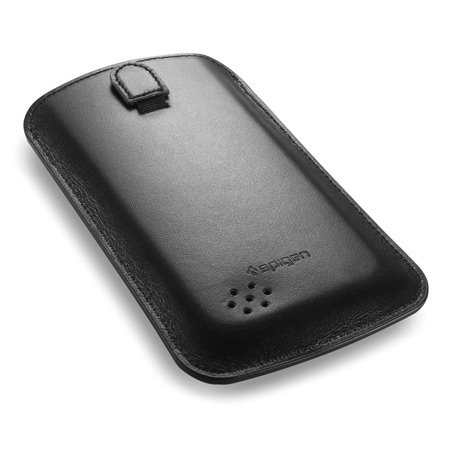 Spigen SGP Leather Crumena Pouch for Samsung Galaxy S4 - Black