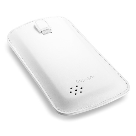 Spigen SGP Leather Crumena Pouch for Samsung Galaxy S4 - White