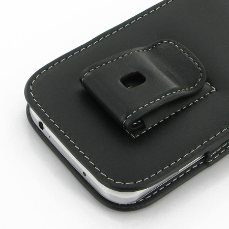 pdair vertical leather pouch case with belt clip samsung