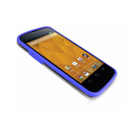 flexiframe google nexus 4 bumper case clear blue