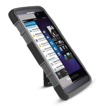Rugged Stand Case for BlackBerry Z10 - Black