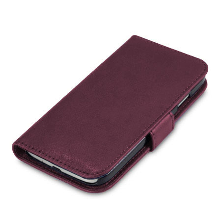 Leather Style Wallet Case for Samsung Galaxy S4 - Purple