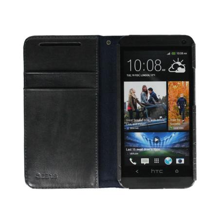 Zenus Prestige HTC One 2013 Lettering Diary Series - Dark Grey