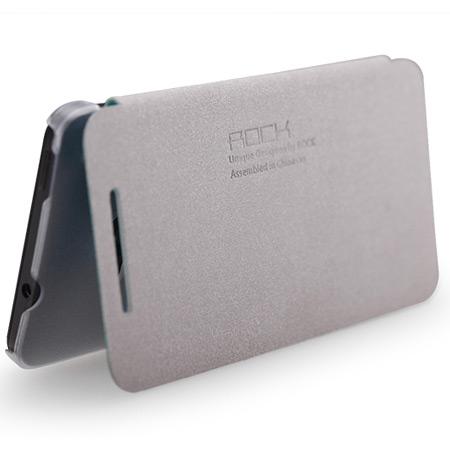 quality design ad858 85e19 Rock Elegant Side Flip Case For HTC One M7 - Lake Blue
