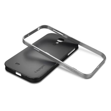 new arrival 0874e 3f9fe Spigen SGP Neo Hybrid Case for Samsung Galaxy S4 - Silver