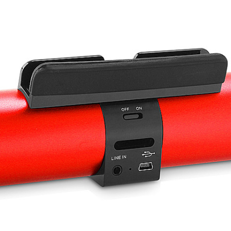 hs100 wireless bluetooth speaker and stand red. Black Bedroom Furniture Sets. Home Design Ideas