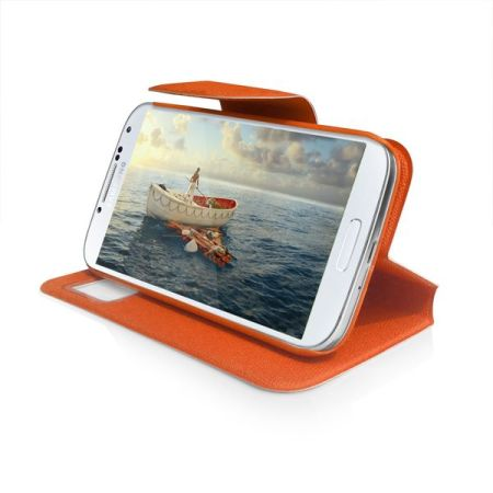 Sonivo Sneak Peek Flip Case for Samsung Galaxy S4 - Orange