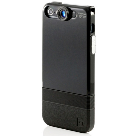 iPhone 5S / 5 Double-Layer Case with Wide Angle Lens - Black/Black