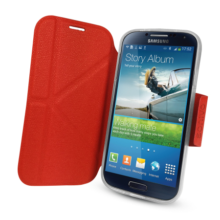 sonivo sneak peek flip case for samsung galaxy s4 mini - black