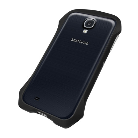 Draco Design Aluminium Airborne Bumper for Samsung Galaxy S4 - Black