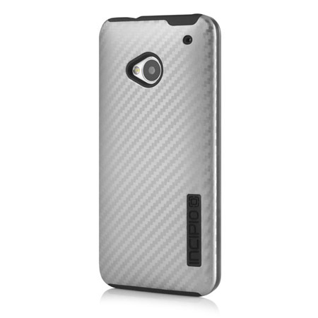 Incipio DualPro CF Case for HTC One M7 - Silver / Black